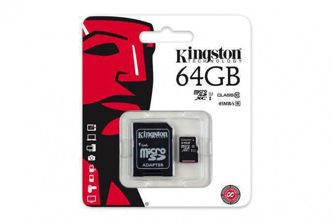 картинка Карта памяти MicroSD 64GB Class 10 U1 Kingston SDC10G2/64GB от интернет-магазина itsklad.kz