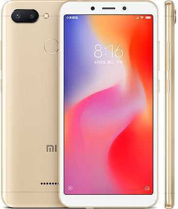 "Смартфон 5,45"" Xiaomi Redmi 6 64GB золото"