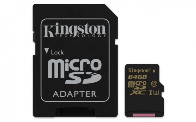 картинка Карта памяти MicroSD 64GB Class 10 U3 Kingston SDCG/64GB от интернет-магазина itsklad.kz