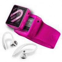 Energy Sistem MP4 Player 2504 Sport 4GB Fuchsia Red (Sport earphones, armband and radio FM)