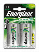 Аккумуляторы Energizer NiMH Power Plus NH 50 2500 mAh (D) 2 штуки в блистере